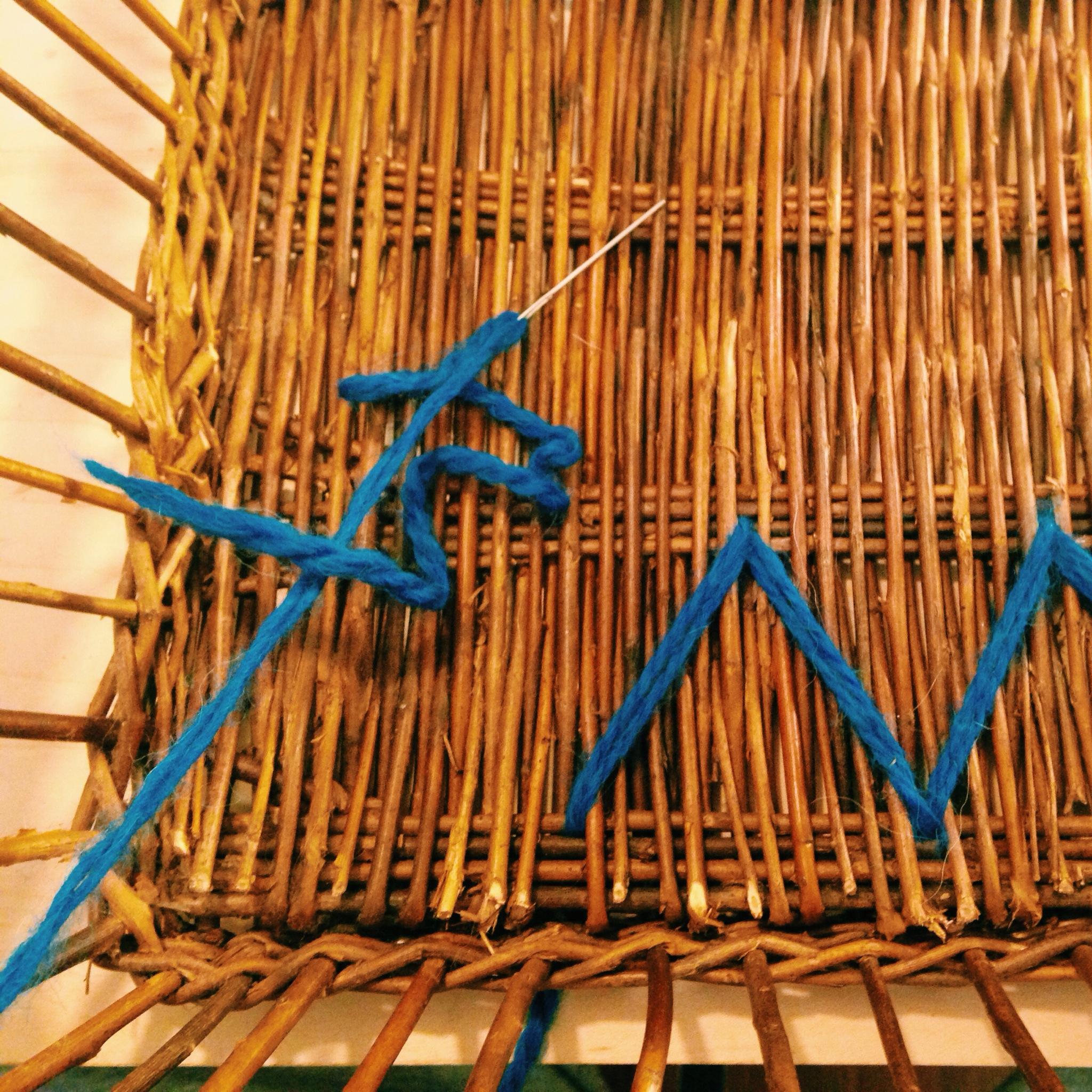 How To Weave A String Basket : Diy yarn woven basket goosecamp